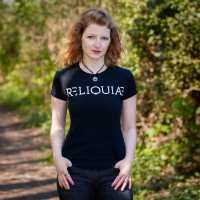 RELIQUIAE Logo Bio-Girly-Shirt